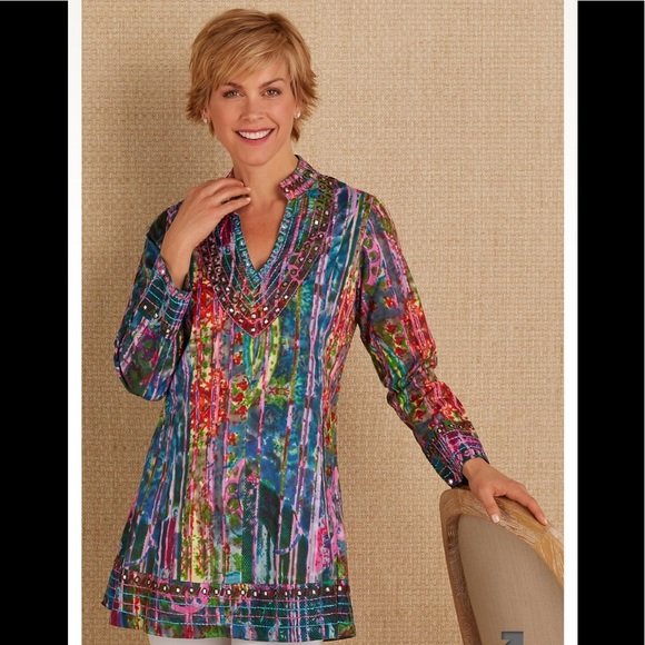 b4c0b4f64bc Soft surroundings embroidered boho tunic. M_5af6ea8ed39ca2a6346204a1
